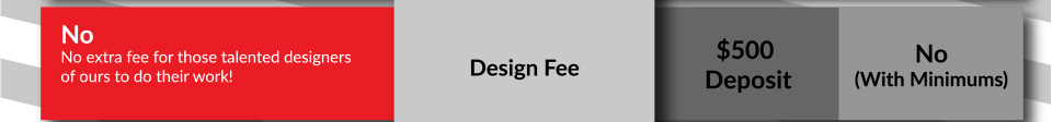 No extra design or art fee.
