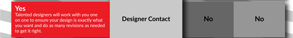 One on one designer contact with our talented designers to ensure your design is exactly what you want and do as many revisions as needed to get it right.