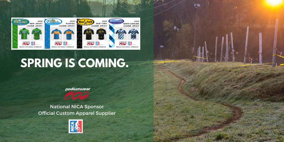 Spring is Coming - Podiumwear Custom Cycling Team Apparel - National NICA Sponsor - Official Custom Apparel Supplier
