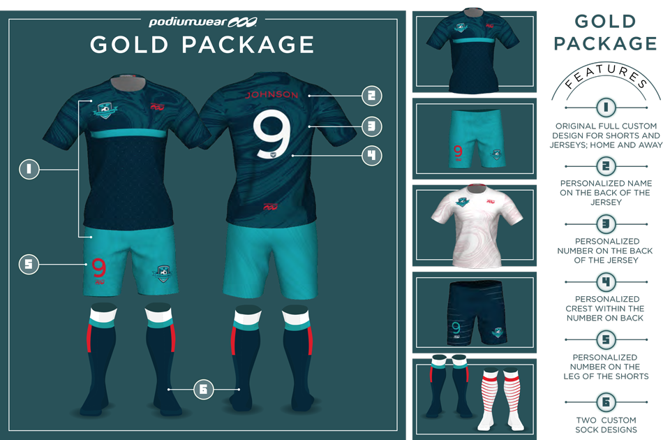 Podiumwear Soccer Gold Package