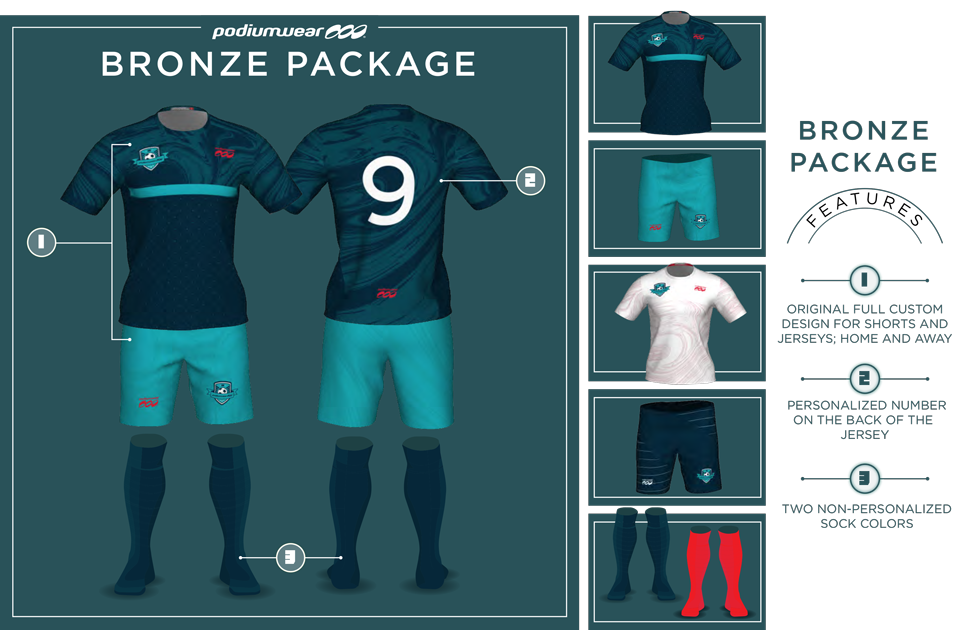 Podiumwear Soccer Bronze Package