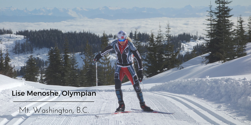 Lise Menoshe, Olympian - Mt. Washington, B.C. - Custom Nordic Skiing Apparel