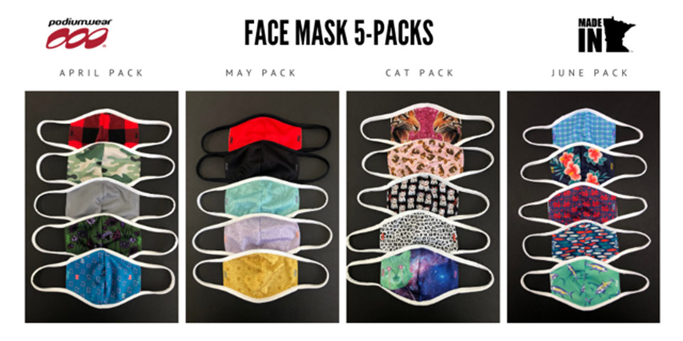 Podiumwear Face Masks 5-Packs