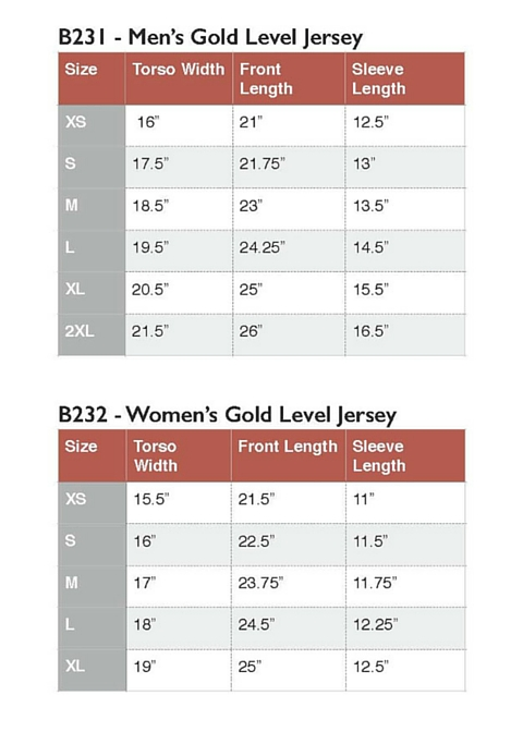 how to determine jersey size