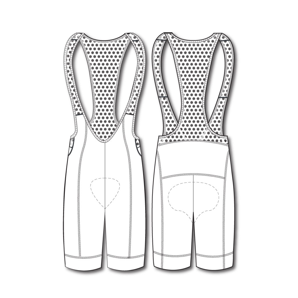 Podiumwear New 2018 Men's Silver Full Custom Bibs