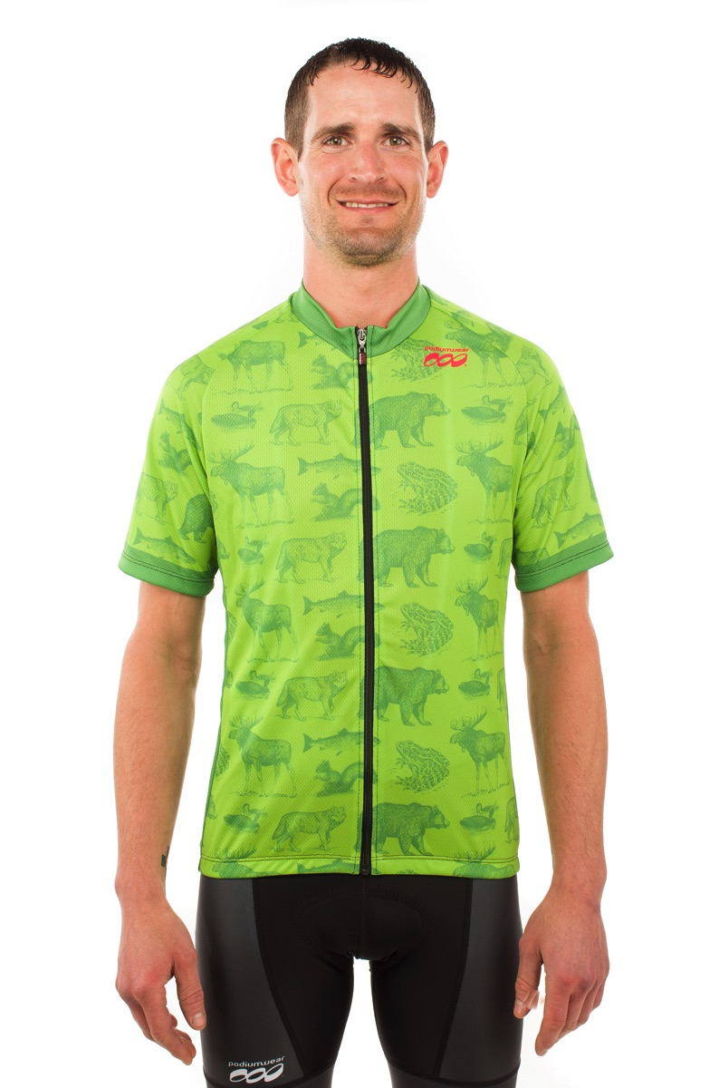 Podiumwear Men's Bronze Full Zip Jersey