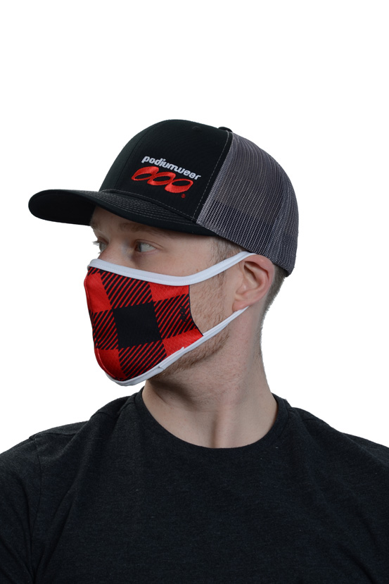 Podiumwear Custom One Layer Face Mask Side