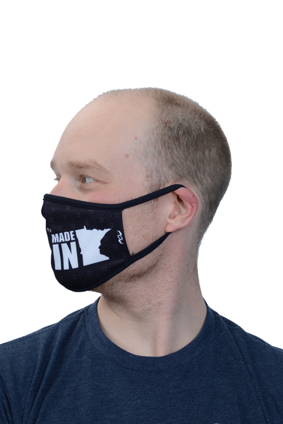 Podiumwear Custom Two Layer Face Mask Side